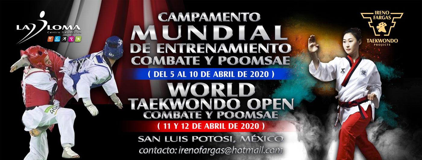 CAMPAMENTO MUNDIAL DE ENTRENAMIENTO Y OPEN MUNDIAL DE TAEKWONDO 2020